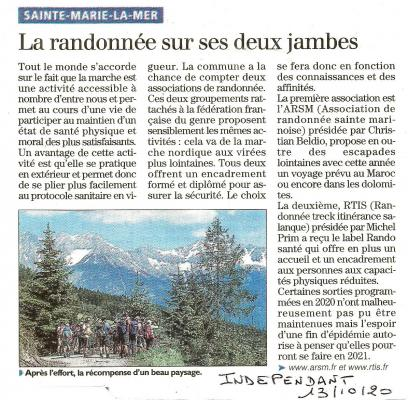 Article independant 13 octobre 2020